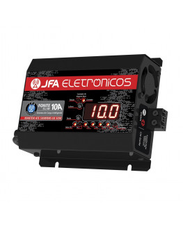 Fonte Automotiva Digital e Carregador 10 AMP com Display Led JFA