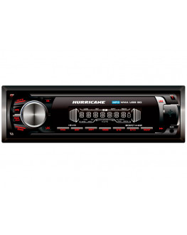 Rádio Automotivo HR410 USB / SD / AUX / FM 4x40W Preto Hurricane