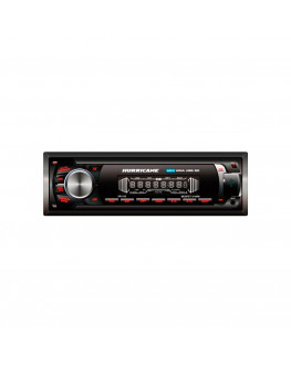 Rádio Player HR410 USB SD AUX FM 4X40W Preto Hurricane